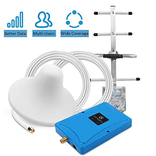 Home 4G Cell Phone Signal Booster for Verizon AT&T T-Mobile - Enhance Your LTE Data Signal by Dual 700MHz Band 12/13/17 Repeater Kit and Ceiling/Yagi Antennas (All Att Cell Phones)