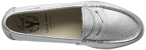 Cole Haan Womens Pizzico Weekender Penny Loafer Argento Metallico