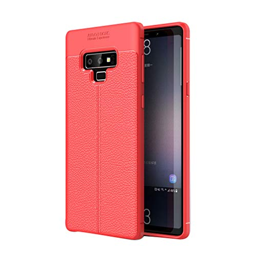 Price comparison product image ANERNAI Galaxy Note 9 Case, Ultra Thin Shockproof Premium Leather PU Soft TPU Bumper Cover for Samsung Galaxy Note 9 (Red)