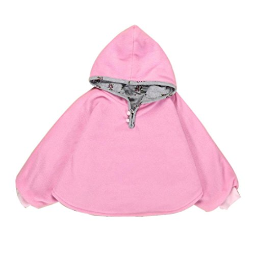 [Fheaven Baby Kids Girls Reversible Hooded Cloak Poncho Jacket Outwear Coat Costume 0-3Y (0-12Month,] (Elephant Bunting Costumes)