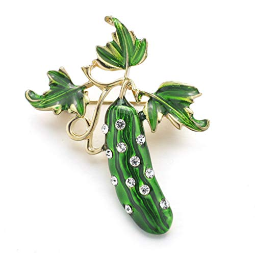 TZNBROCHS Brooches Rhinestone Vegetables Crystal Brooch Pin for Women Scarf Dress Jewelry