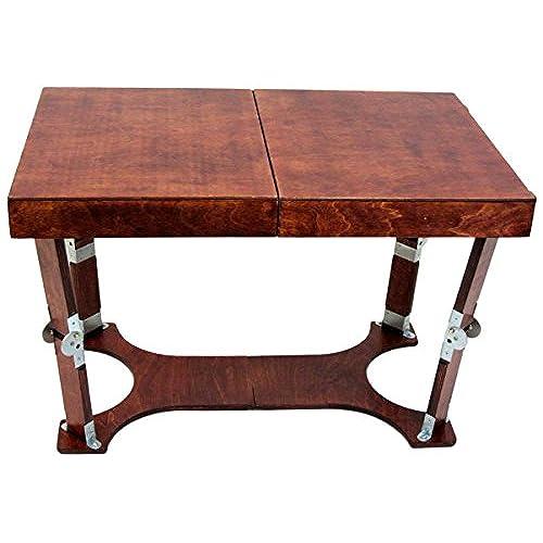 Spiderlegs Folding Coffee Table, 28 Inch, Mahogany