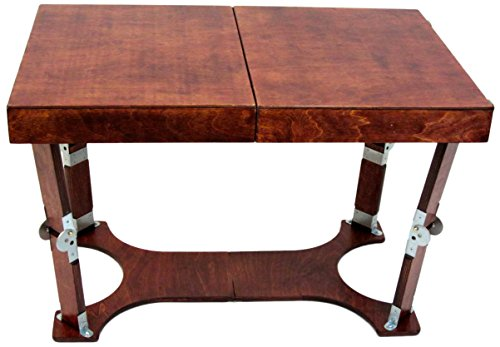 Mahogany Set Coffee Table - Spiderlegs Folding Coffee Table, 28-Inch, Mahogany