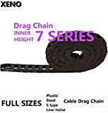 Ochoos Transmission Chains 7x7/7x15/10x10/10x15/10x20/10x30/10x40 Plastic Towline Nylon Cable Drag Chain Wire Carrier - (Inner Size: 10x30T)