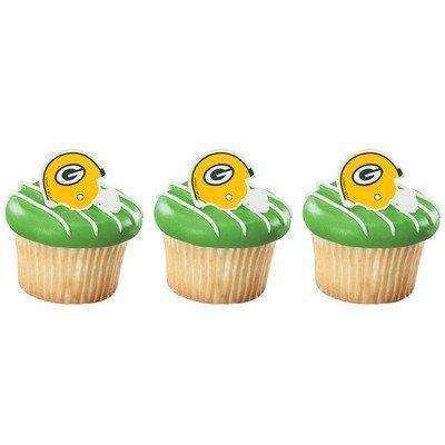 Green Bay Packers Cupcake Rings 24 Count ()