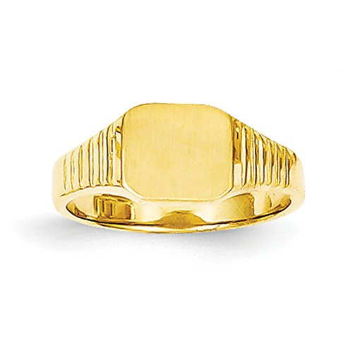Baby and Children 14K Yellow Gold Signet Ring by Qgold