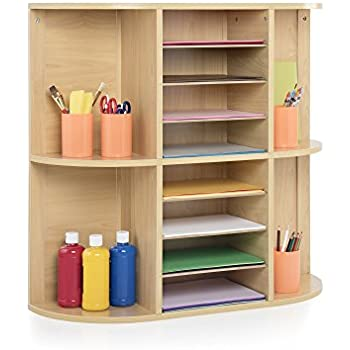 Display And Storage Center, School Supply Organizer Shelves, Kids Furniture