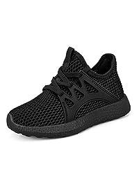 Troadlop Kids Sneakers Ultra Breathable Lightweight Mesh Running Tennis Shoes for Boys Girls