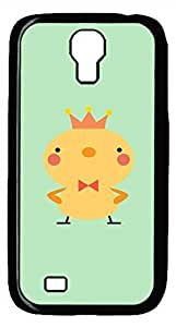 Samsung Galaxy S4 I9500 Black Hard Case - Wearing A Crown Of Chickens Galaxy S4 Cases