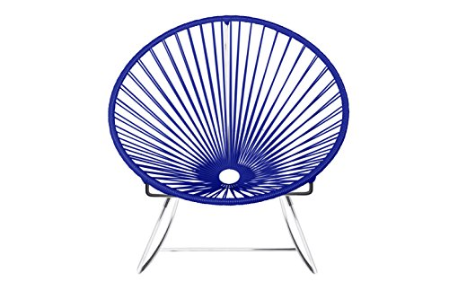 Innit Designs 04-03-28 Innit Rocker, Deep Blue On Chrome (Furniture Outdoor Toronto Contemporary)