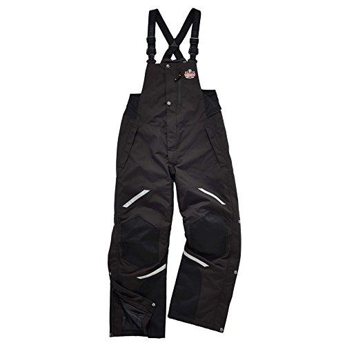 Ergodyne N-Ferno 6471 Men's Winter Thermal Work Bib Overalls, Black, Large by Ergodyne (Image #1)