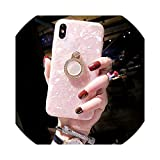 B Dressy Mobile Phone Shell for iphone6S XS MAX Shell Silicone Sleeve Full Package Anti Dropping Bracket XR Lanyard Female 8Plus,Pink,for iPhone 8