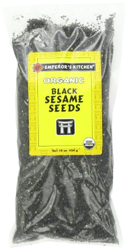 Emperor's Kitchen Organic Black Sesame Seeds, 16-Ounce Bags (Pack of 3) by Emperor's Kitchen