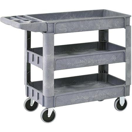 Sandusky 3-Shelf Heavy-Duty Utility Cart with 5