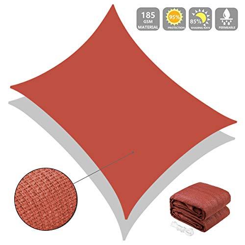 shimytop Sun Shade Sail, 10'x13' Red Rectangle