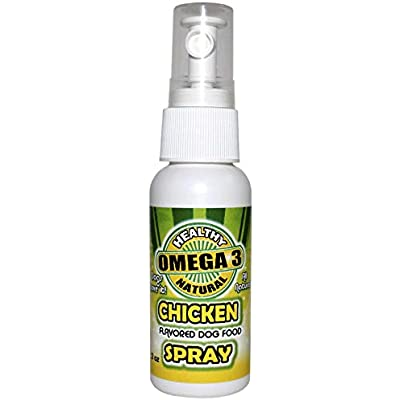 Chicken Flavored Omega 3 Oil for Dogs - Supports Healthy Skin and Coat - All Natural - Human Grade Ingredients