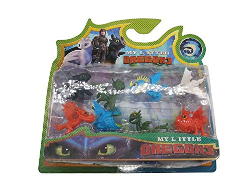 (Optovichok How to Train Your Dragon 3 Action Figures Set of 8pcs PVC Mini Action Figures Toy Doll Night Fury Toothless Dragon -Playset How to Train Dragon 3-Toys- Plastic Figures Dragon 3 )
