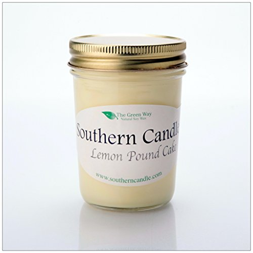 Lemon Pound Cake - 8 oz Heritage Jar Natural Soy Wax Candle (Lemon Cake Moist Pound)