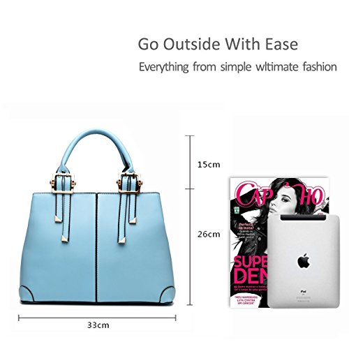 bag handbag messenger Blue casual fashion portable bag ladies Light purse ADOO 2017 wine for New red shoulder wqCUUz
