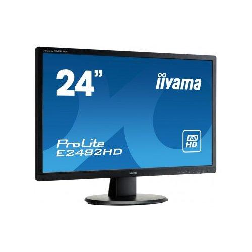 iiyama E2482HD-B1 Ecran PC LED 24' (60, 96 cm) 1920x1080 5 ms VGA/DVI - Noir Moniteur Apple