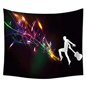 Home Wall Art Decor Tapestry Music Guitar Printing Wall Hanging