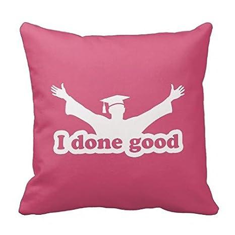 I hacer buen humor de graduación Manta Lienzo cuadrado manta ...