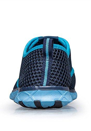 Männer Mesh Lace-Up schnell trocknende Aqua Wasser Schuhe Breathable Lightweight Fashion Walking Shoes Himmelblau
