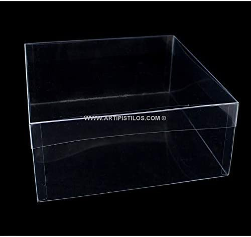 Artipistilos® Caja Con Tapa 26 X 26 X 10 Pvc Alta Resistencia - 26 * 26 * 10 Cms, Transparente - Cajas De Pvc Transparente: Amazon.es: Ropa y accesorios