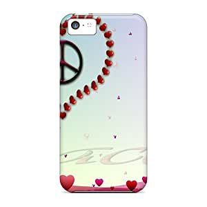 HSs28429oYYP Snap On Cases Covers Skin For Iphone 5c(peace Heart)
