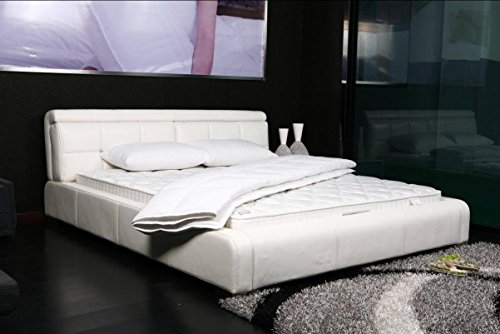 DaDa Bedding Basic Solid White Ultra Comfort Bed Top Mattress Quilted Cover Padding - King - 1-Piece by DaDa Bedding Collection