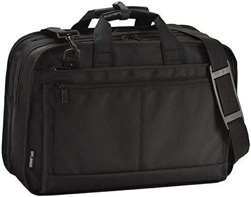 平野鞄 ビジネスバッグ ブリーフケース ビジネストラベルバッグ ショルダーバッグ B4 メンズ 軽量 2室 ビジネス 出張 通勤 黒 ブラック 横幅48cm +オリジナル高級ムートングローブ