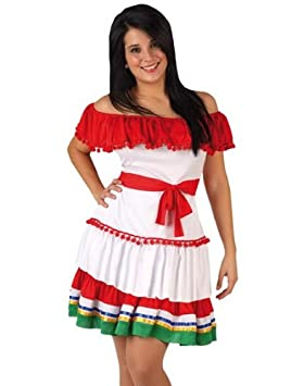 Desconocido Disfraz de mejicana para mujer: Amazon.es ...