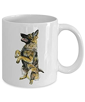 German Shepherd Dog Mug - Style No.1 - Cool Ceramic Alsatian Coffee Cup (11oz)