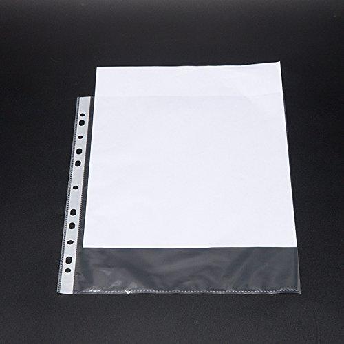 deli - File Protection Bag, Transparent Loose-Leaf Pocket, File Bags (File Bag 10 Sets 资料袋10套) by Deli (Image #2)