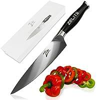 Zelite Infinity Cuchillo de Chef 20 cm – Utensilios Cocina Serie Comfort-Pro – Acero Inoxidable Alemán de Alto Contenido en Carbono – Cuchillos Cocina Afilado de Navaja