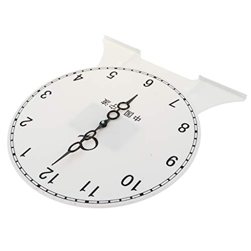 Fityle Kids Children's Teaching Time Clock Learn to Tell The Time Classoom Supplies - 12 Hour Clock A