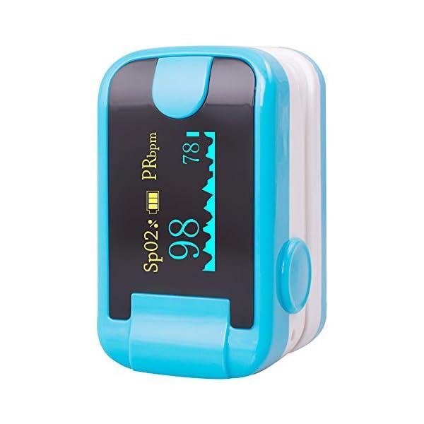 Carejoy Color OLED oximetro de Pulso de Dedo con Alarma Audio y Sonido del Pulso-SPO2Monitor Fingerpulsoximeter Pulsoximeter Pulsioxímetro Saturimetro Ossimetro 1