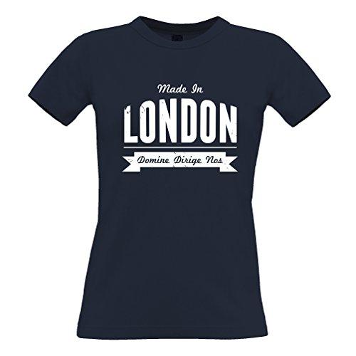 Made in London St Pauls Eye Buckingham Big Ben Deterioramento, Design, T-Shirt Da Donna