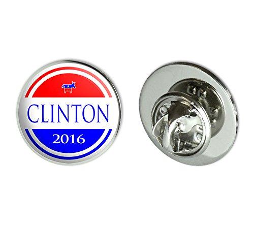 Clinton 2016 Democrat Logo Hillary Clinton for President Round Metal Lapel Hat Pin Tie Tack Pinback