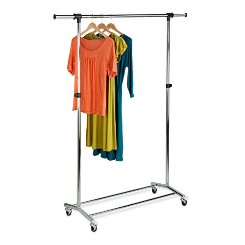 Honey-Can-Do GAR-01123 Garment Rack with Adjustable Bar and Steel Casters, ()