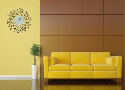 Lulu Decor, Spring Blooms, Lines Dial, Decorative Metal Wall Clock ...