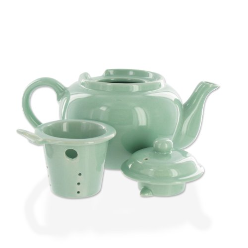 2 cup teapot with infuser basket - 1