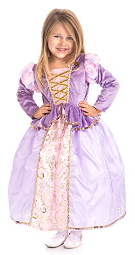 Little Adventures Classic Rapunzel Princess Dress Up Costume (Large Age 5-7) Purple ()