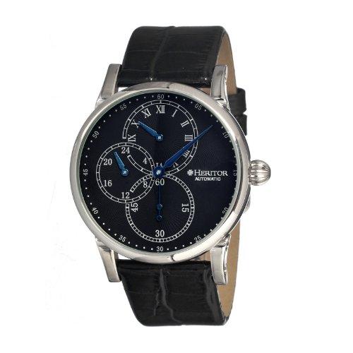 Heritor Men's HR1102 Thomson Black Leather Watch
