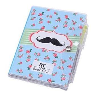 Libreta Notas Pvc Moustache Con Bol/ígrafo Regalos de Bodas DISOK