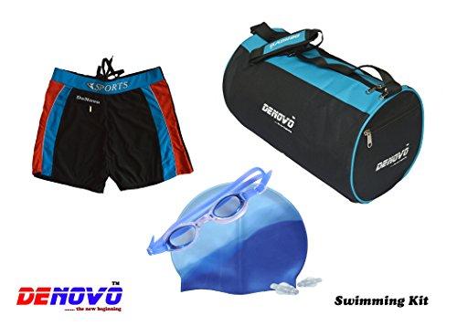 DeNovo Cap Goggle Bag Trunk  Free Size  Swimming Kit