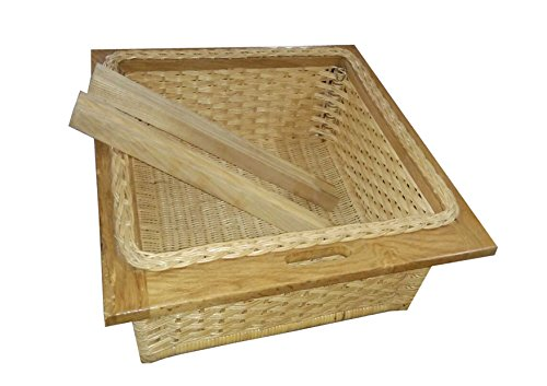 Infinity kitchenware Wooden Pull Out Wicker basket (Brown)