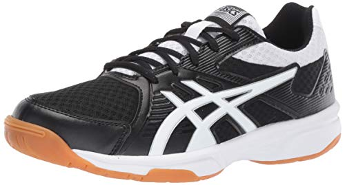 ASICS Upcourt 3 Women's Volleyball Shoe, Black/White, 8.5 M US