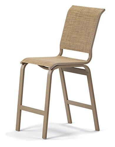 Beachwood Bar Stool (Telescope Casual Furniture Aruba II Sling Collection Balcony Height Armless Chair, Bark, Textured Beachwood Finish)