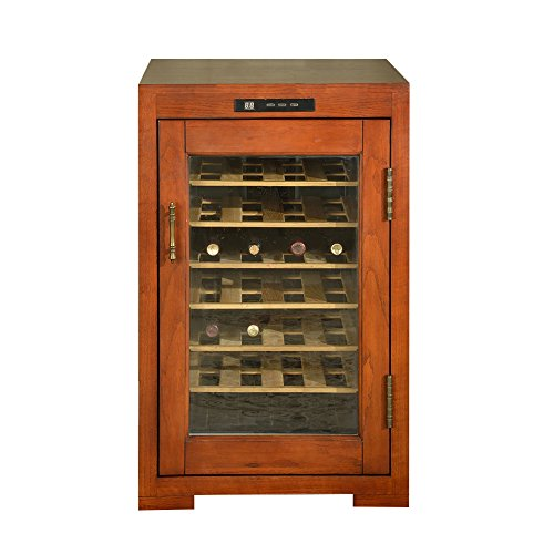 Sitang Dual Zone Thermoelectric Freestanding Wine Cooler Cellar Chiller Refrigerator Fridge Quiet Operation with Wooden Shevles MLG19-28A